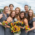Ashley and bridesmaids - photography by Carly Fuller