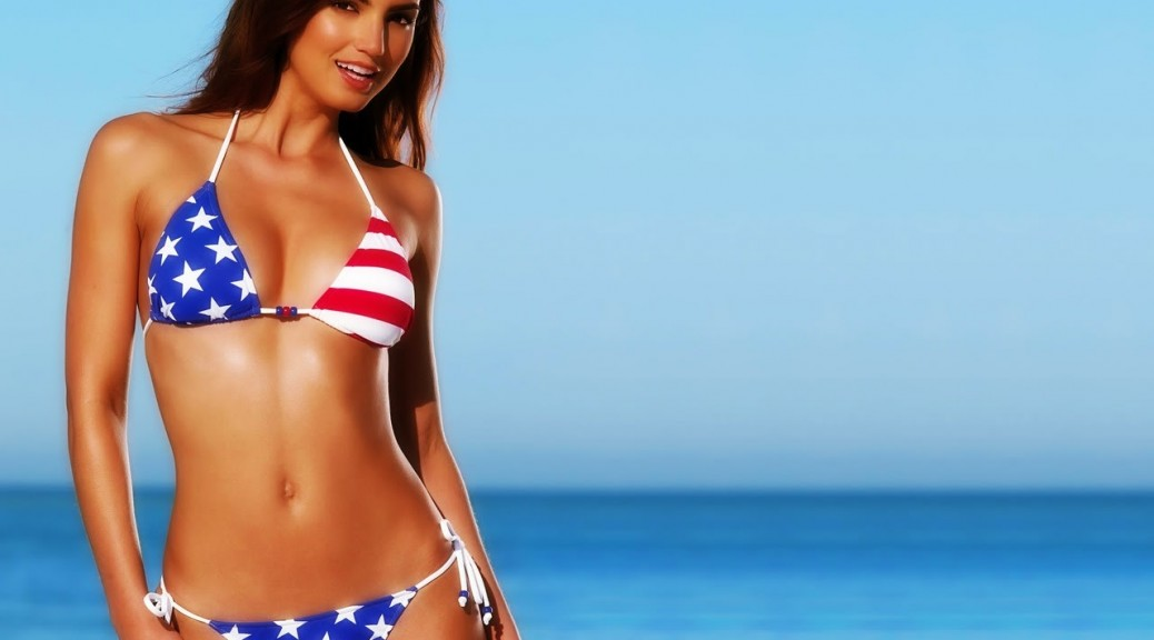 american flag bathing suit