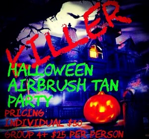 halloween airbrush party