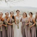 Heather Leary and bridesmaids